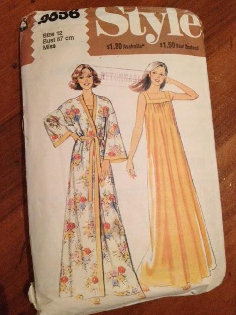 Vintage Pattern - Style 2656 Silk Satin Robe - Sew Tessuti Blog
