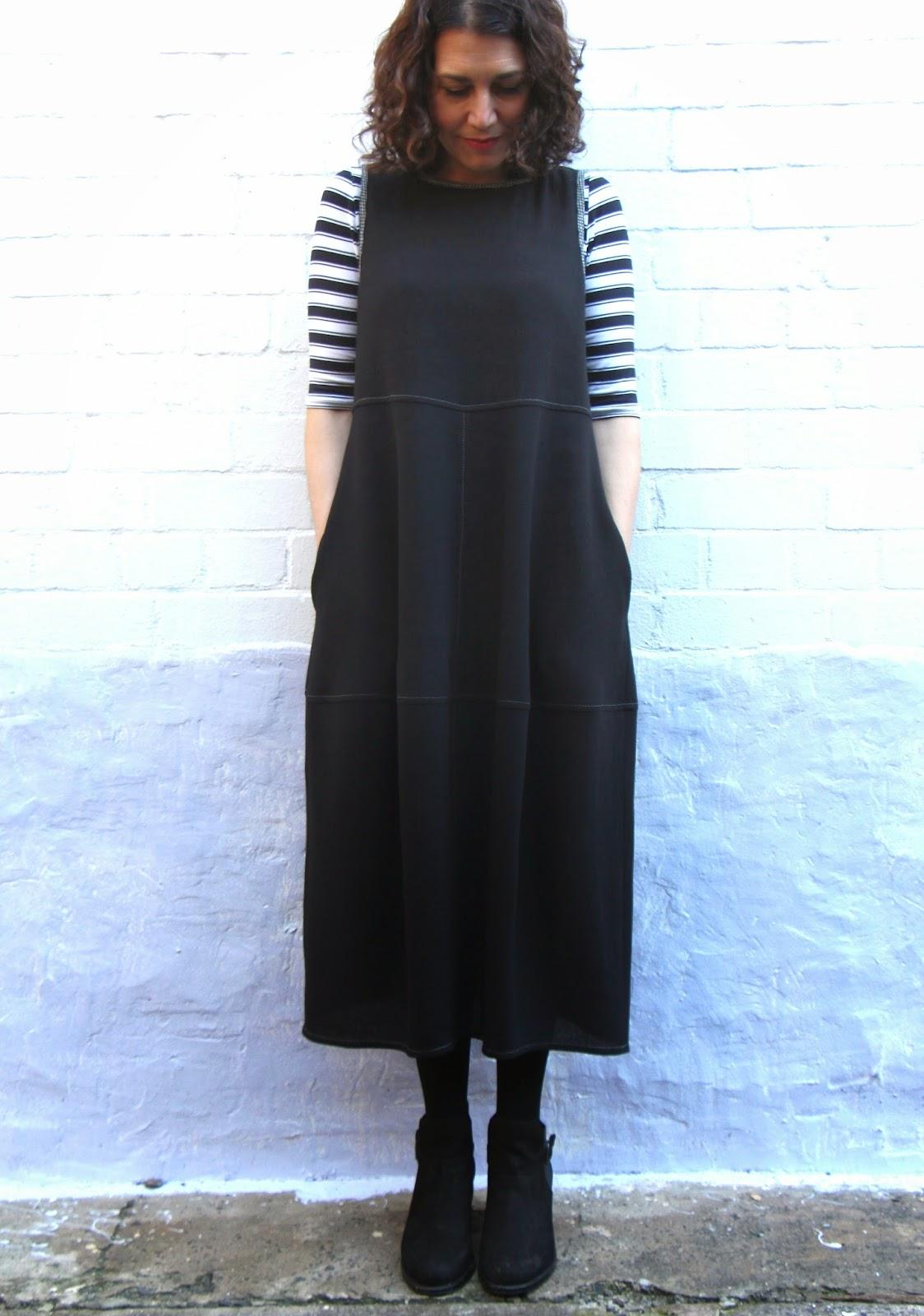Winter Eva Tunic Dress in Nero Kurepu Sew Tessuti Blog