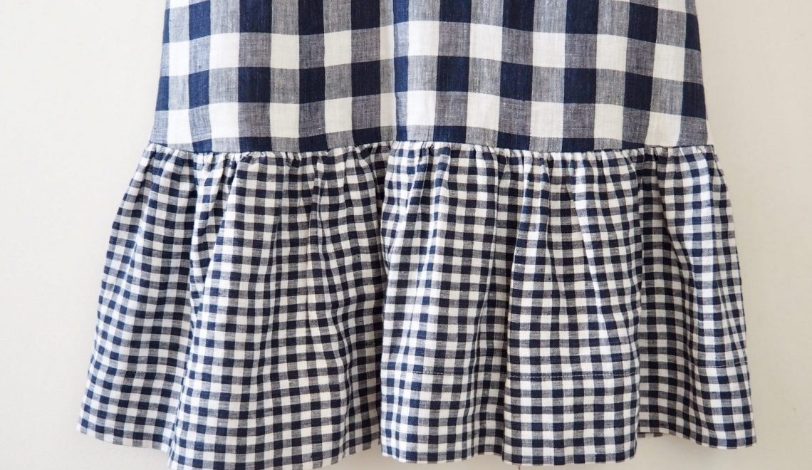 Vogue 9237 :: Double linen, double gingham